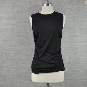 NWT Theory Ruched Black Top - M